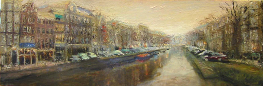 oil on canvas<br>110 x 40